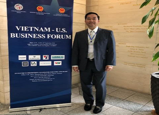 HI-TEK INC., attends the VIETNAM - U.S Business Forum 2018 in Los Angeles, California, USA